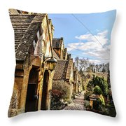 Village Of Winchcombe Throw Pillow