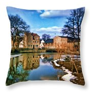 Village Reflections Throw Pillow