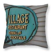 Village Restaurant Throw Pillow