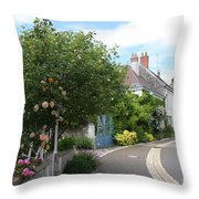 Village Road Throw Pillow