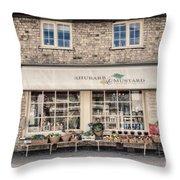 Village Shop Throw Pillow