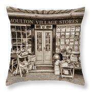 Village Stores 3 Throw Pillow