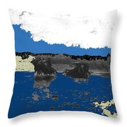 Villa's Car Pulled By Horse Riders Durango 1922-2013 Throw Pillow