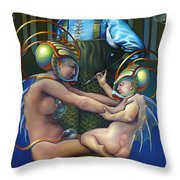 Villeroy Bleu Throw Pillow