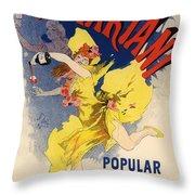 Vin Mariani Throw Pillow