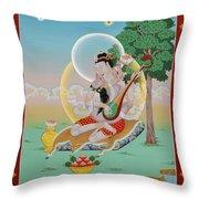 Vinapa Mahasiddha Throw Pillow