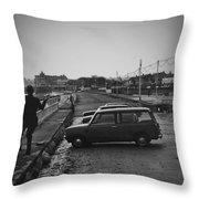 Vinatge 70s Fishing Throw Pillow