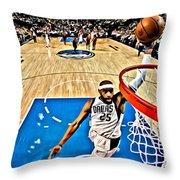 Vince Carter Dunking Throw Pillow by Florian Rodarte