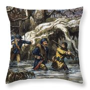 Vincennes: March, 1779 Throw Pillow by Granger