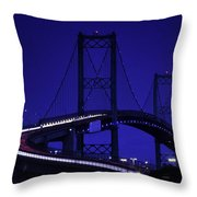 Vincent Thomas Bridge Throw Pillow