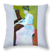Vincent Van Gogh's Marguerite Gachet Playing At The Piano Throw Pillow
