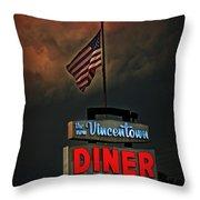 Vincentown Diner Throw Pillow