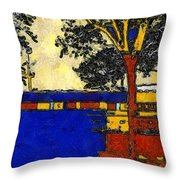 Vincent's Japanese Garden Throw Pillow