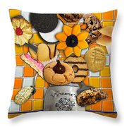 Vincent's Sunflower Cookie Jar Throw Pillow
