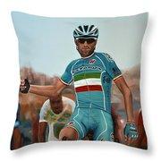 Vincenzo Nibali Painting Throw Pillow