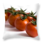 Vine Cherry Tomatoes Throw Pillow
