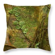 Vine On Tree Bark Throw Pillow