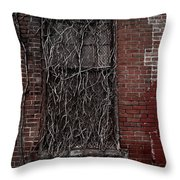 Vines Of Decay Throw Pillow