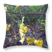 Vines On The Fence Throw Pillow