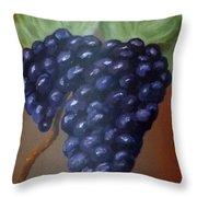 Vineyard Grapes On Terra Cotta Throw Pillow