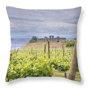 Vineyard In Maryhill Washington State Throw Pillow