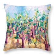 Vineyard In The Afternoon Sun Throw Pillow