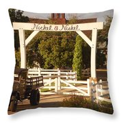Vineyard Trucking Throw Pillow by Holly Blunkall