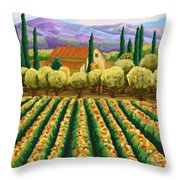 Vineyard With Olives Tuscany Throw Pillow