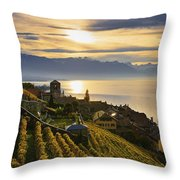 Vineyards Saint-saphorin, Lavaux Throw Pillow