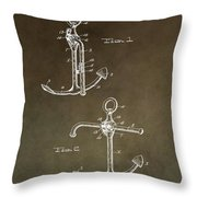 Vintage 1902 Anchor Patent Throw Pillow