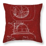 Vintage 1932 Firemans Helmet Patent Throw Pillow