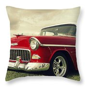 Vintage 1955 Chevy Nomad Throw Pillow