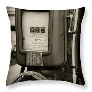 Vintage Air Station In Black And White Throw Pillow