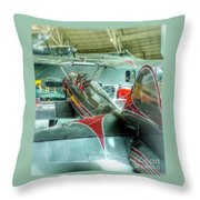 Vintage Airplane Comparison Throw Pillow