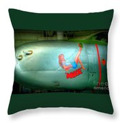Vintage Airplane Margie Throw Pillow