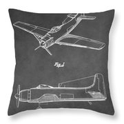 Vintage Airplane Patent Throw Pillow