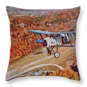 Vintage Airplane Postcard Art Prints Throw Pillow