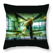 Vintage Airplane Three Throw Pillow