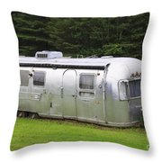 Vintage Airstream Trailer Throw Pillow