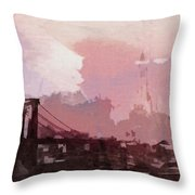 Vintage America Brooklyn 1930 Throw Pillow