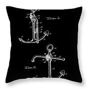 Vintage Anchor Patent Throw Pillow