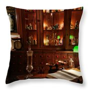 Vintage Apothecary Shop Throw Pillow