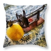 Vintage Apple Peeler Throw Pillow