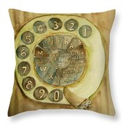Vintage Aussie Rotary Throw Pillow