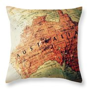 Vintage Australia Throw Pillow