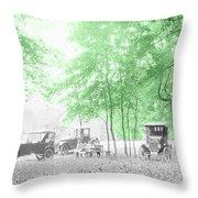 Vintage Autobmobiles Throw Pillow
