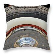 Vintage Automobile Tire Throw Pillow