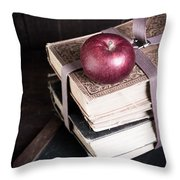 Vintage Back To School Throw Pillow by Edward Fielding