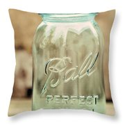 Vintage Ball Mason  Throw Pillow