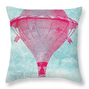 Vintage Balloon Throw Pillow